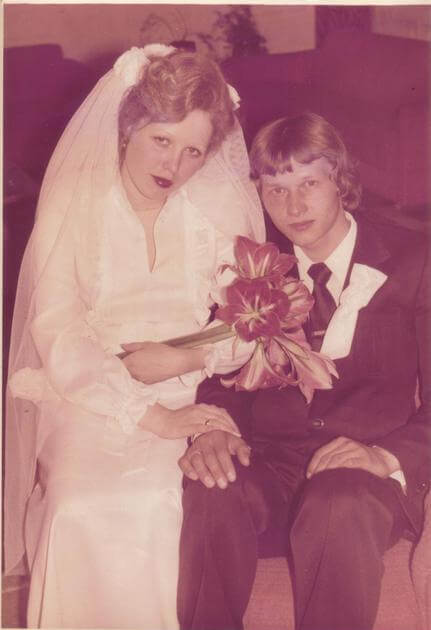 Я с Оленькой в день бракосочетания