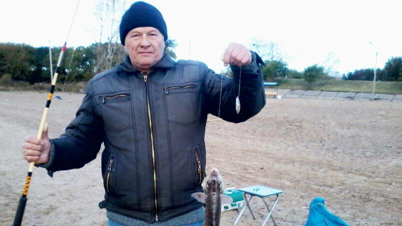 Виктор Фабричников на рыбалке